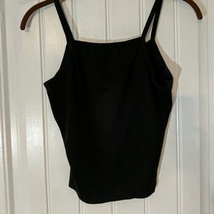 Tops - Black cropped tank top